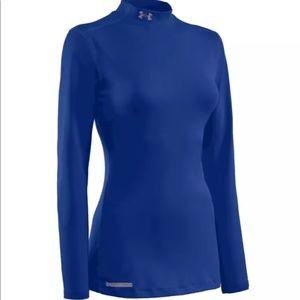 UA Cold Gear Long Sleeve Sport Shirt Royal Blue L